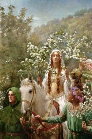 John Maler Collier - Queen Guinevere's Maying