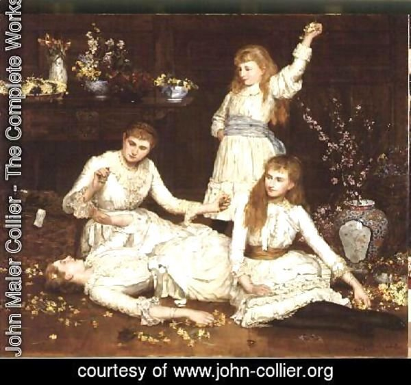 John Maler Collier - The Daughters of Col. Makins M.P.