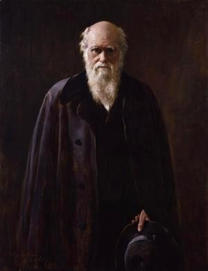 Portrait of Charles Darwin (1809-1882) 1883