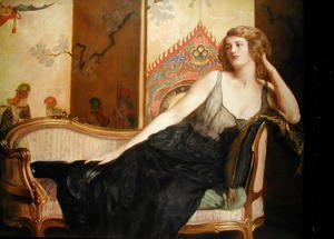 John Maler Collier - Reclining Woman