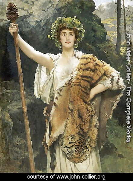 John Maler Collier - The Priestess of Bacchus