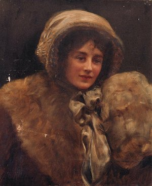 John Maler Collier - Portrait of Mrs H. C. Marillier