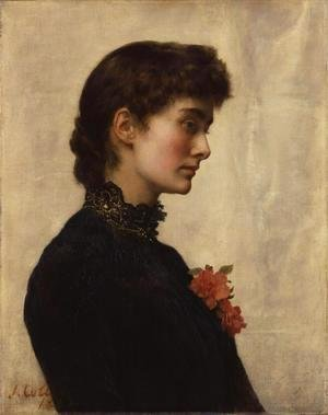 John Maler Collier - The Artist's Wife, Marion Collier (nee Huxley)