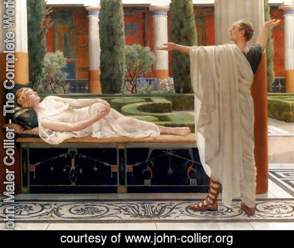 John Maler Collier - Horace And Lydia